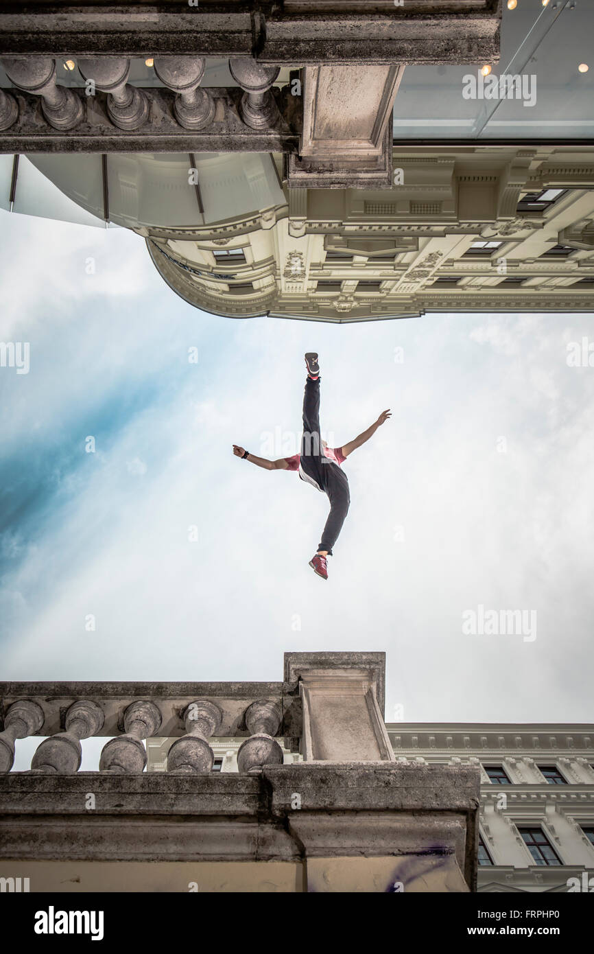 Urban Freerunning - Stock Image