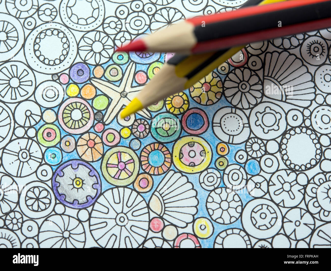 A Page In The Adult Coloring Book My Phantastic Ocean From Johanna Basford Photographed Sieversdorf Brandenburg Germany 16 March 2016 Books