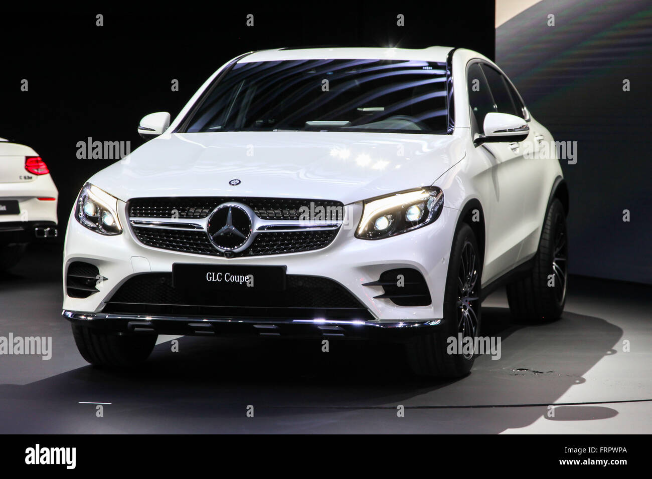 Manhattan, New York, USA. 23rd Mar, 2016.A Mercedes GLC Coupe shown at the New York International Auto Show 2016, - Stock Image