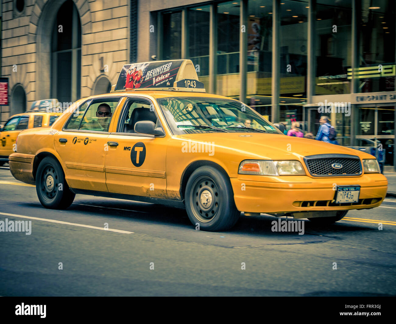 Taxi, New York City, USA - Stock Image