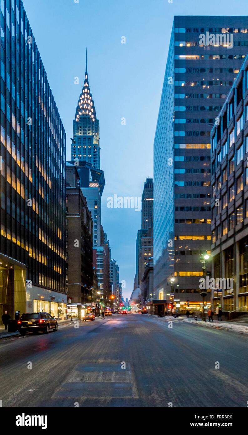 The Chrysler Building, East Side of Midtown Manhattan, New York City, USA. - Stock Image