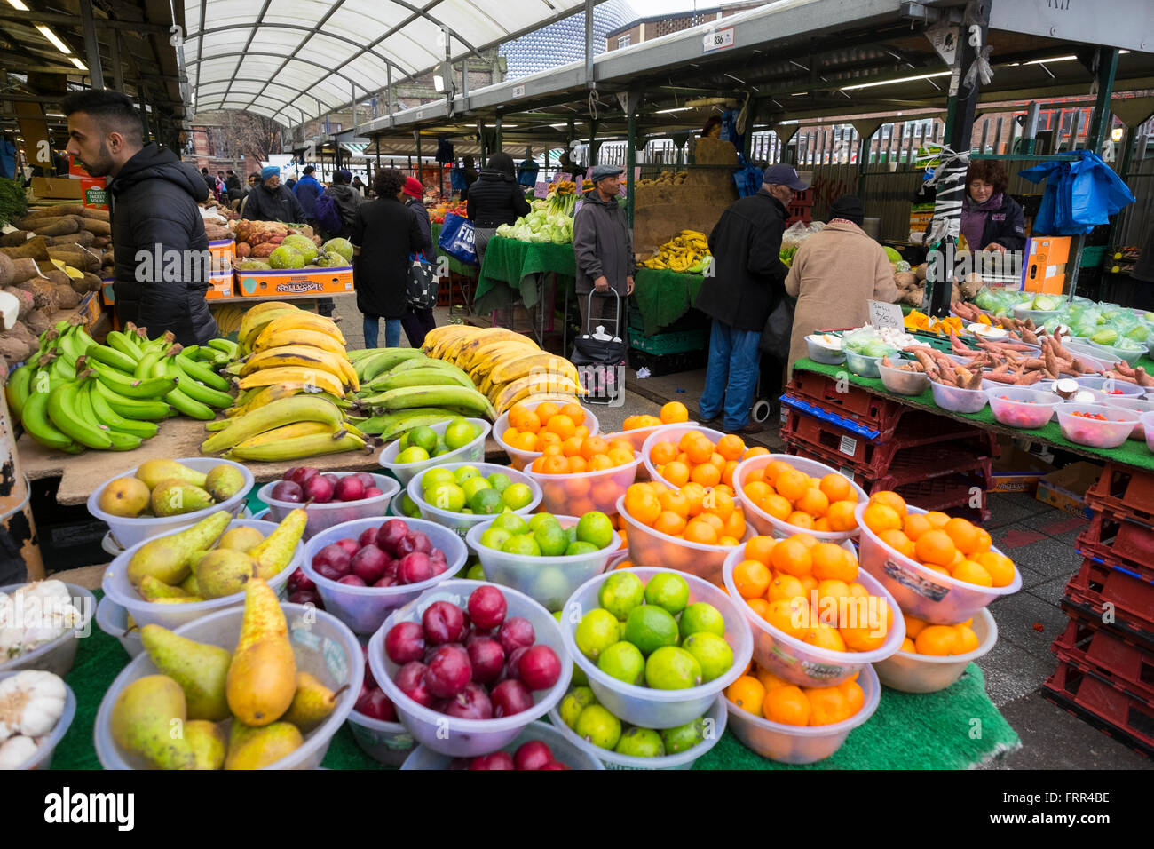 Fruit On Sale In Bull Ring Open Air Market Birmingham