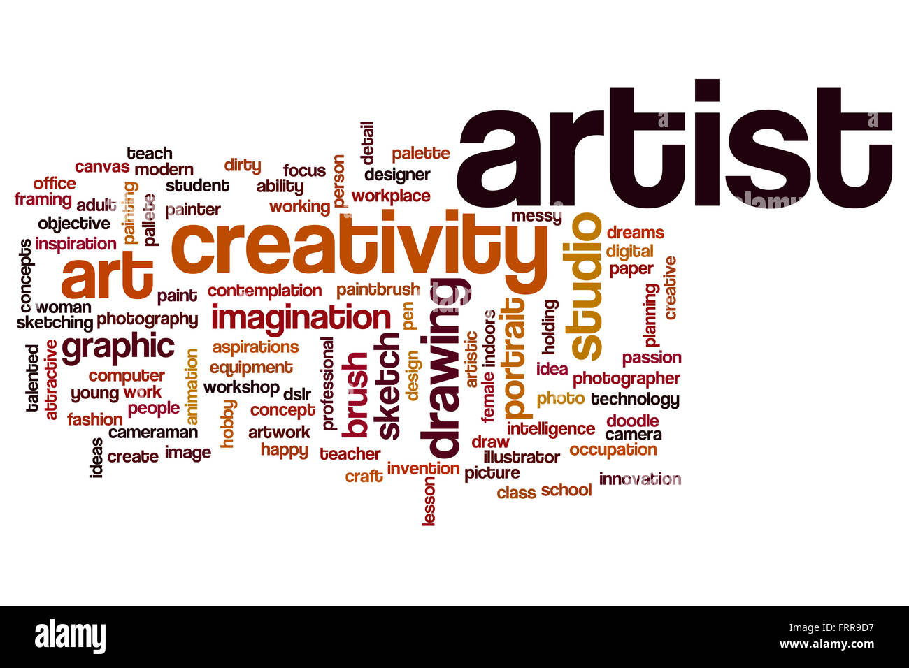 Artist Word Cloud Concept Stock Photo 100701251 Alamy