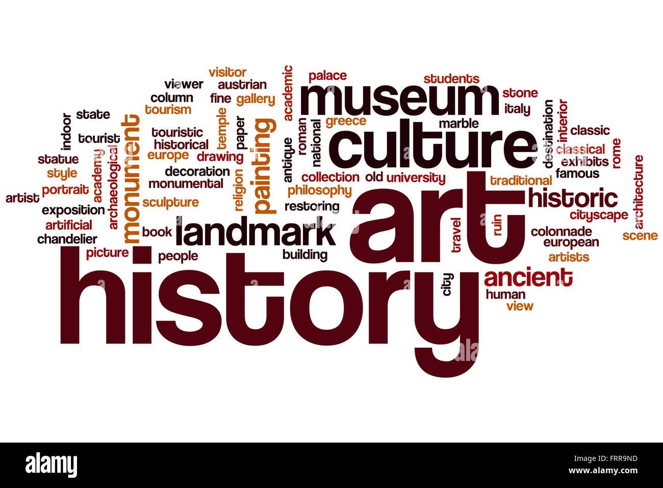 Art History Word Cloud Concept