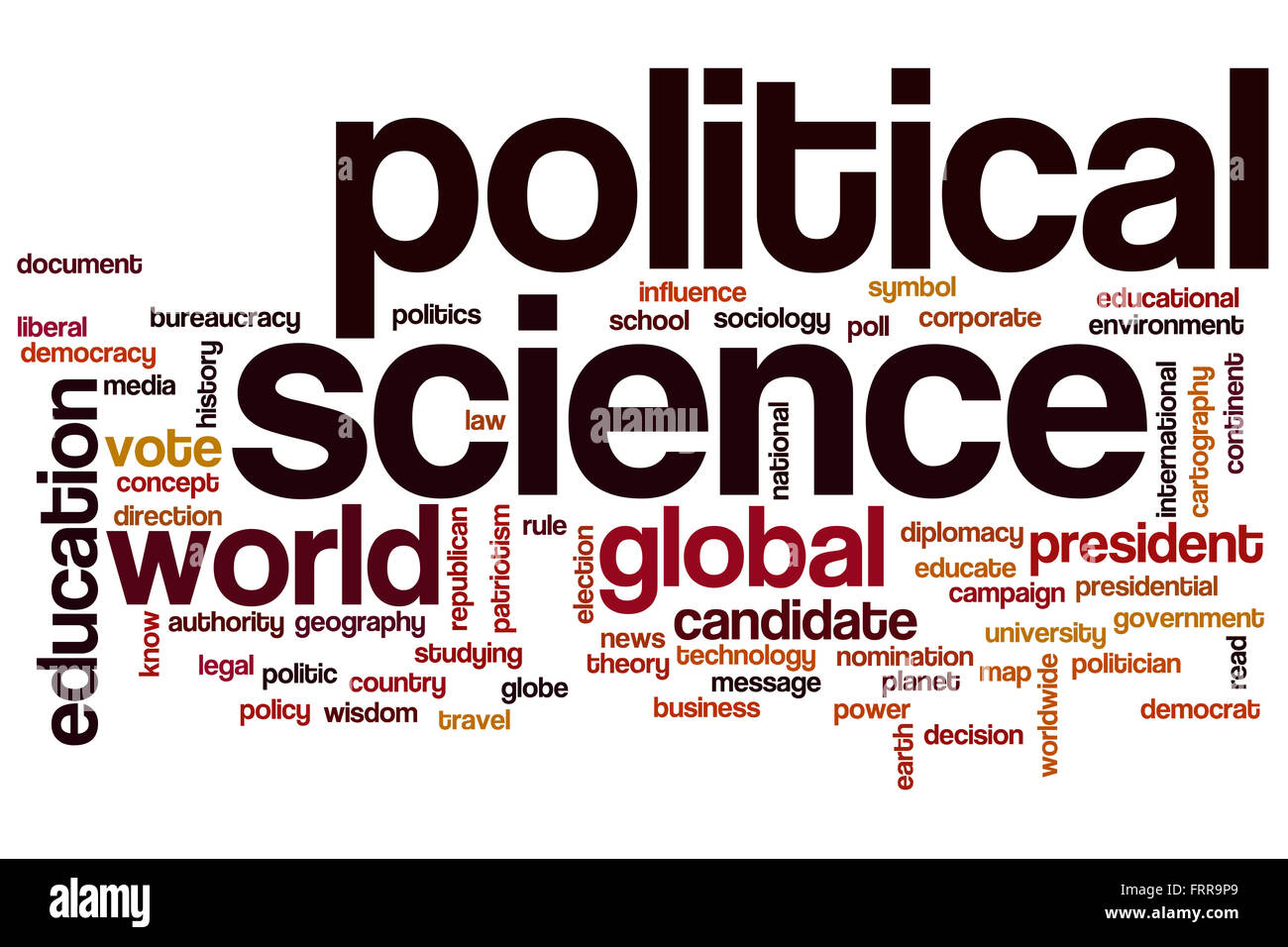 political science word cloud concept stock photo 100701505 alamy