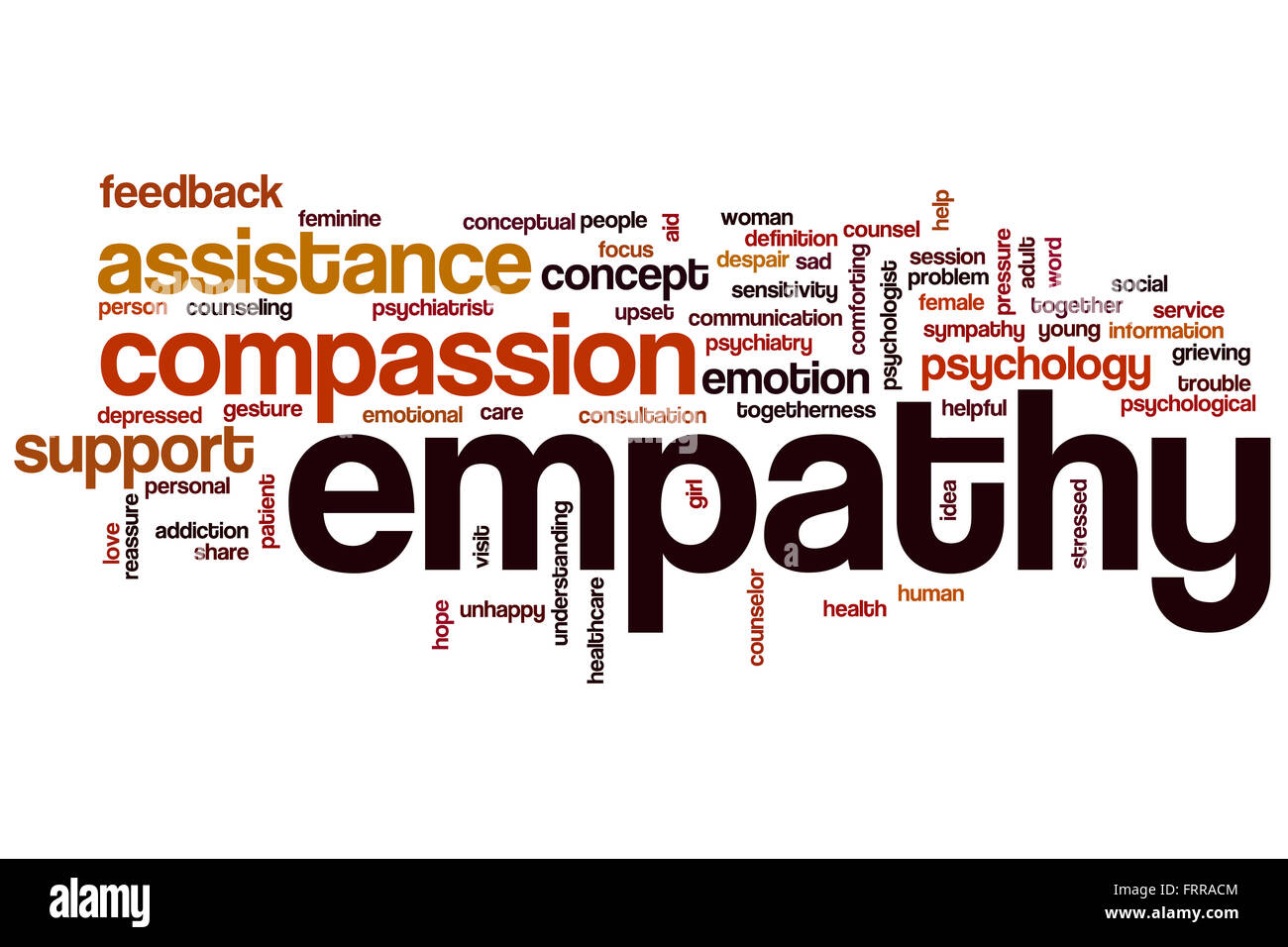 Empathy word cloud concept with compassion emotion related ...