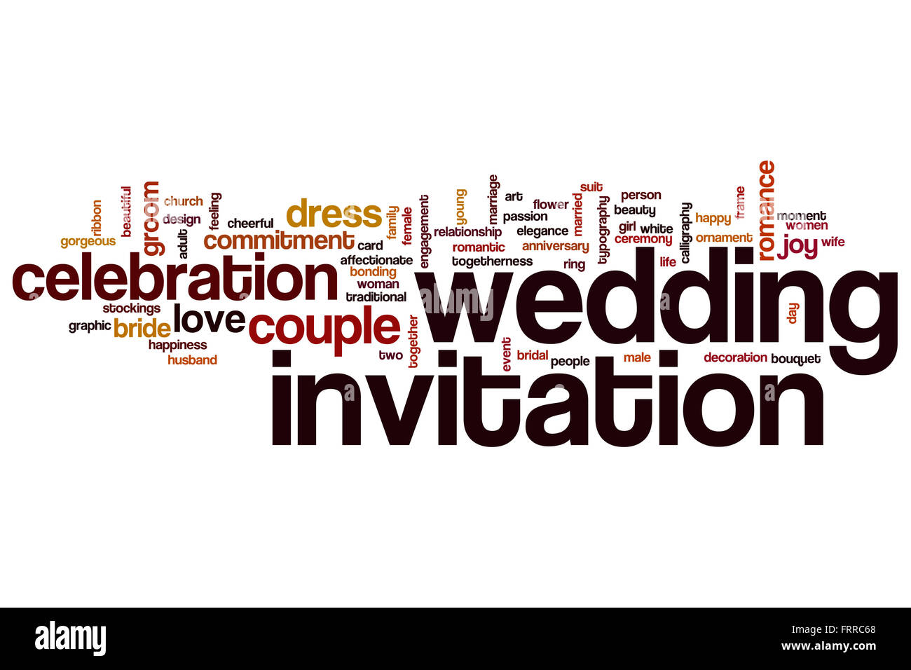 Wedding invitation concept word cloud background Stock Photo
