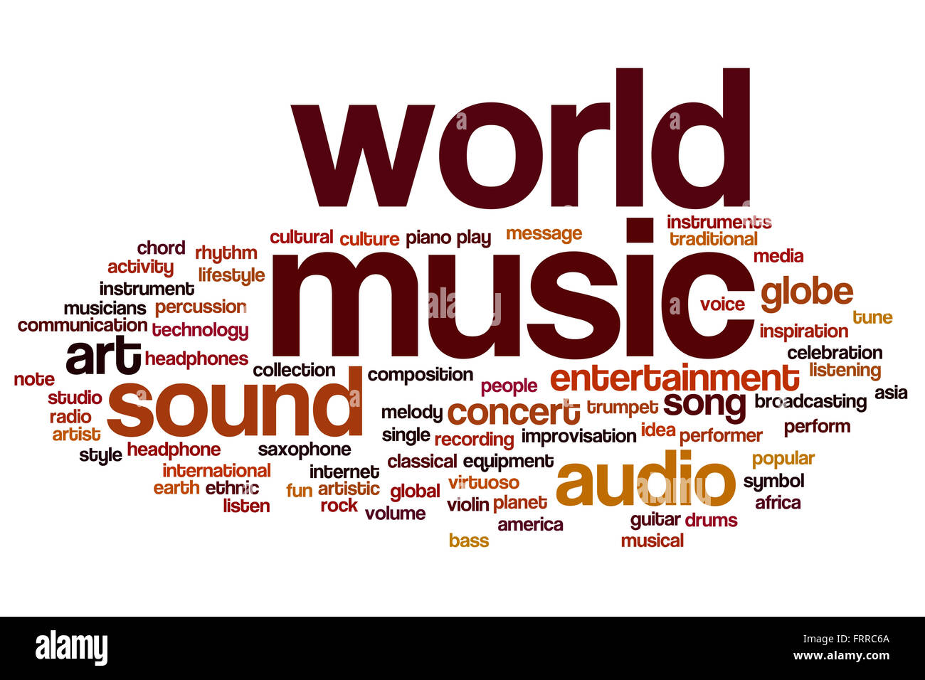 World Music Concept Word Cloud Background Stock Photo 100703410 Alamy