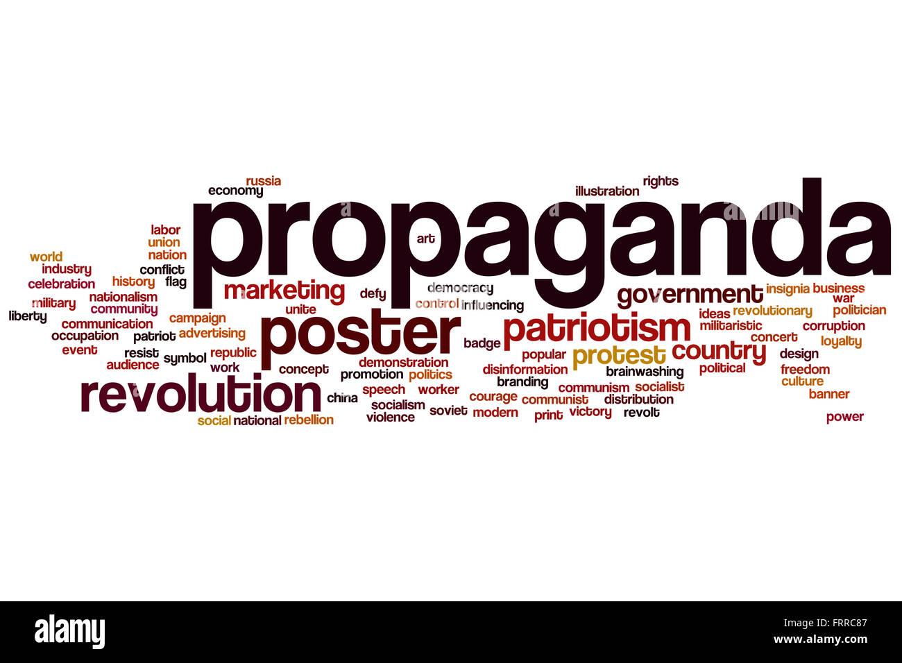 Propaganda concept word cloud background - Stock Image