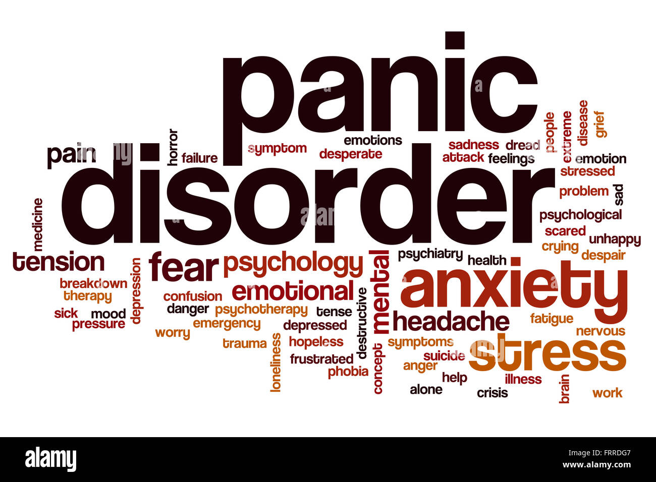 Panic Disorder Word Cloud Concept Stock Photo 100704471