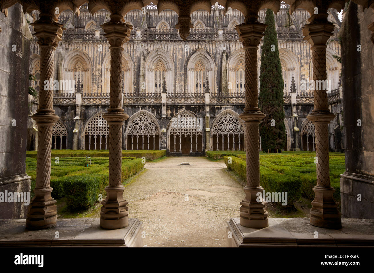 Cloisters at Batalha monastery, Portugal - Stock Image