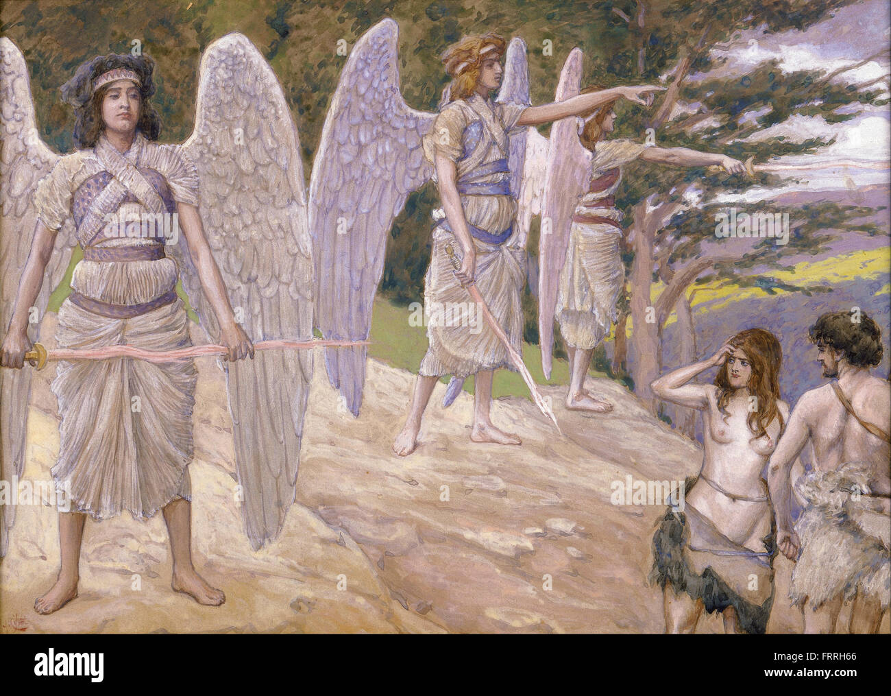James Jacques Joseph Tissot - Adam and Eve Driven From Paradise - Stock Image