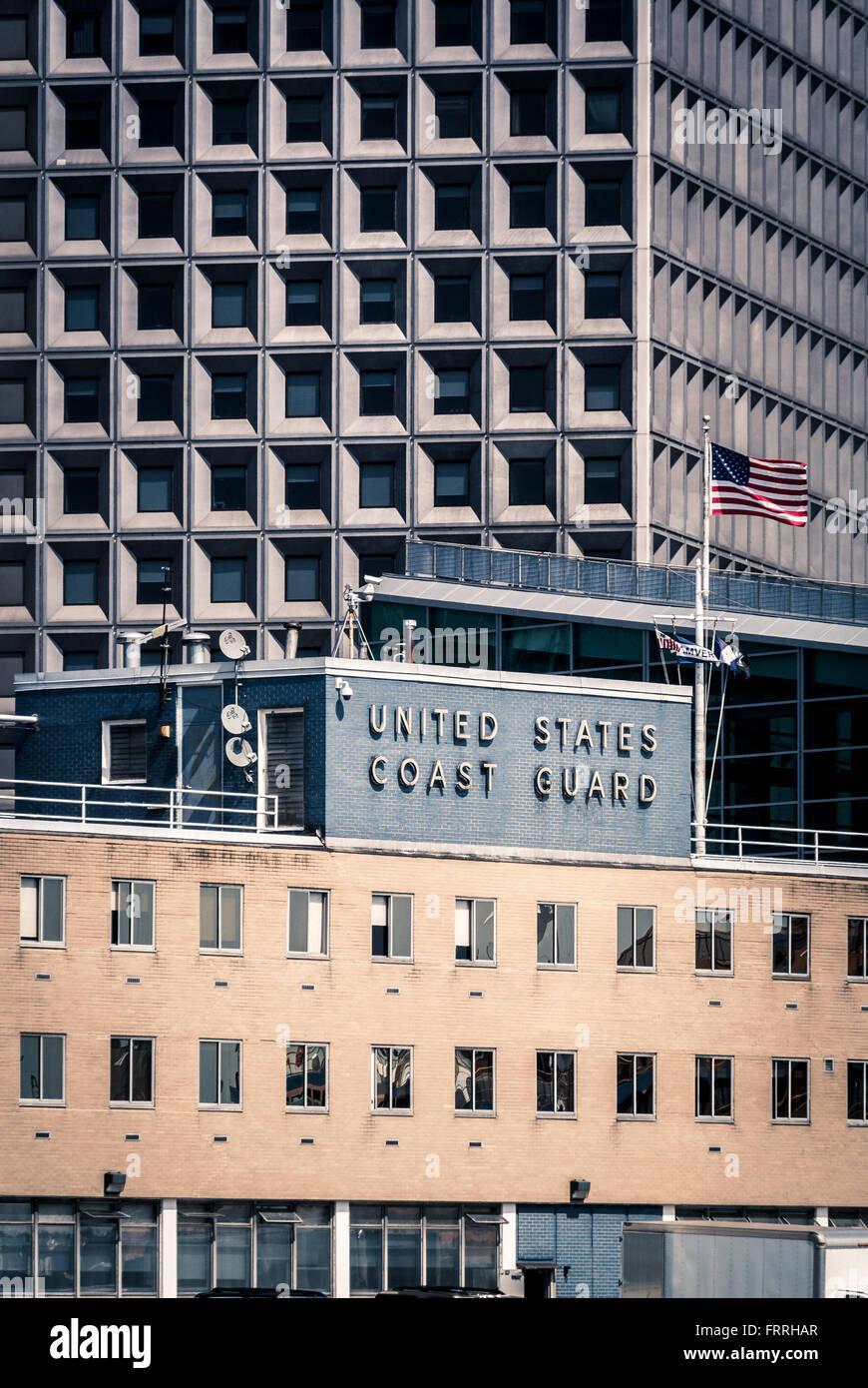 United States Coast Guard Building, New York City, USA. - Stock Image