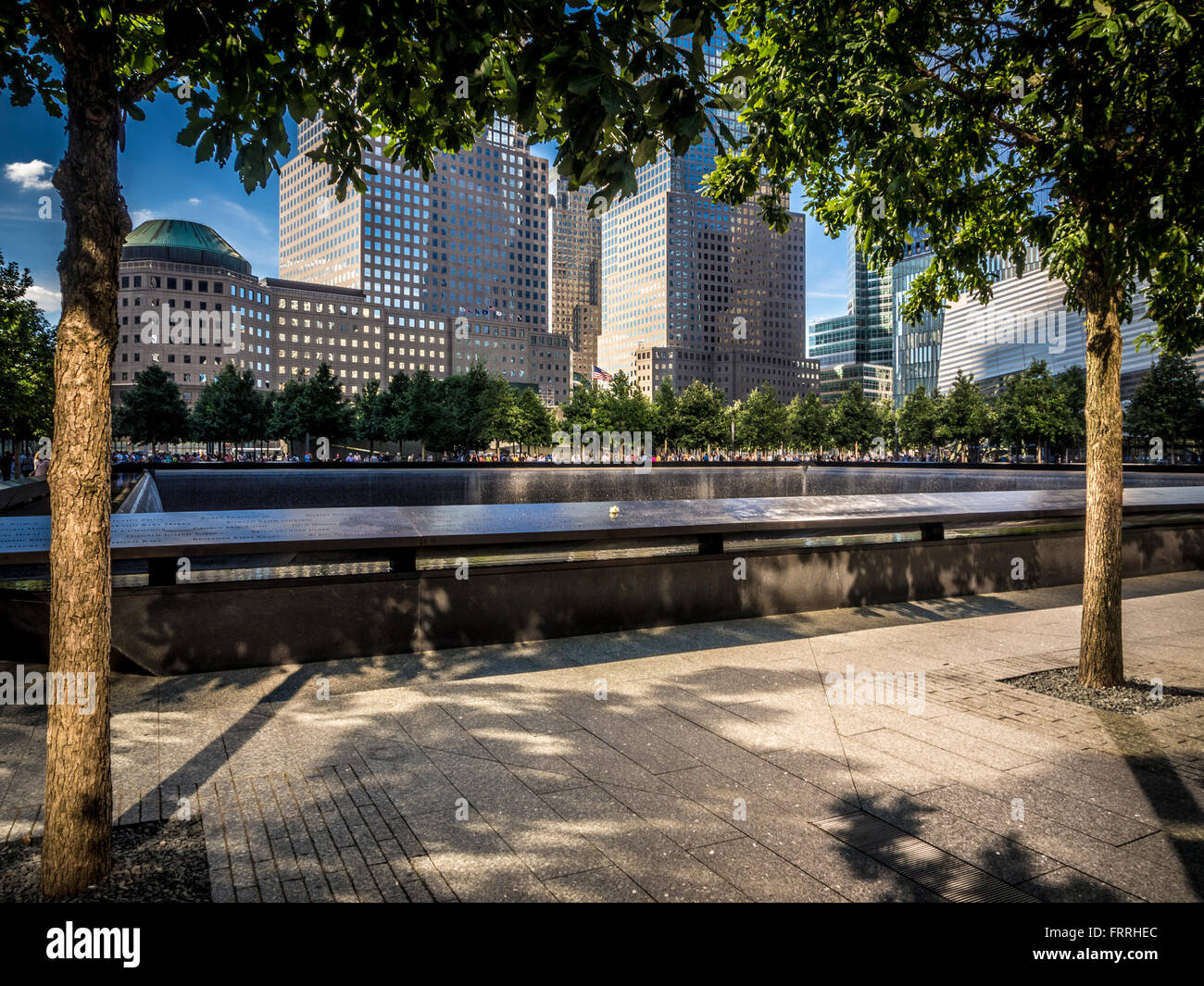 9/11 memorial, New York, USA - Stock Image
