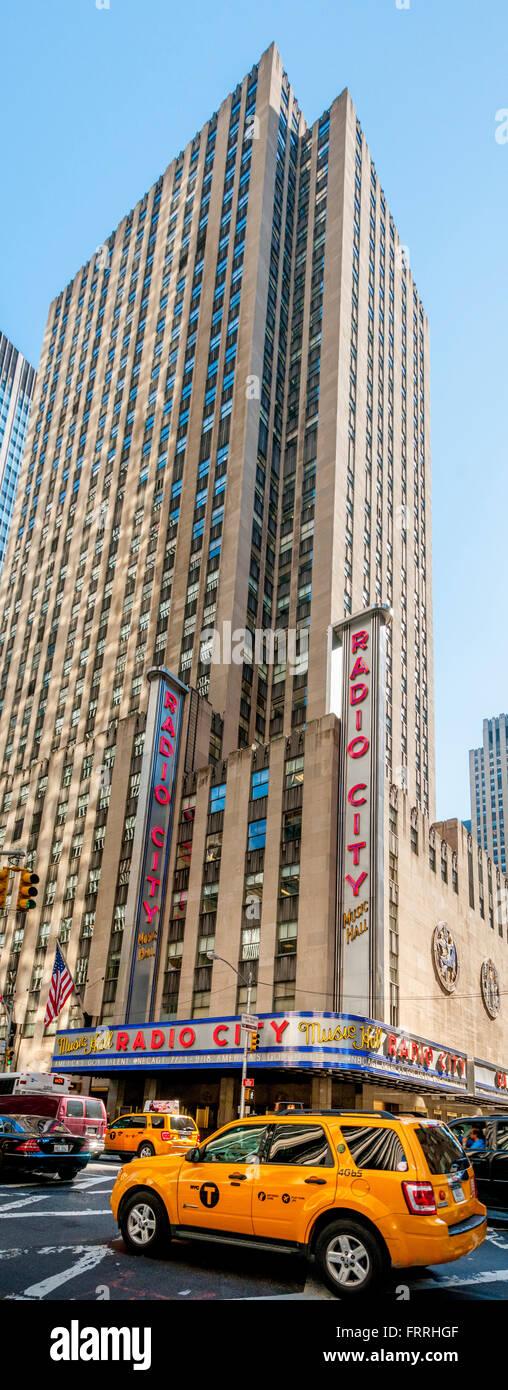 Radio City Music Hall building, New York city, USA. - Stock Image
