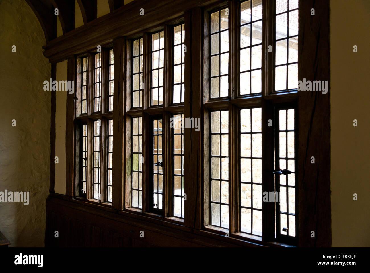 Old building details. Windows,  interior. - Stock Image