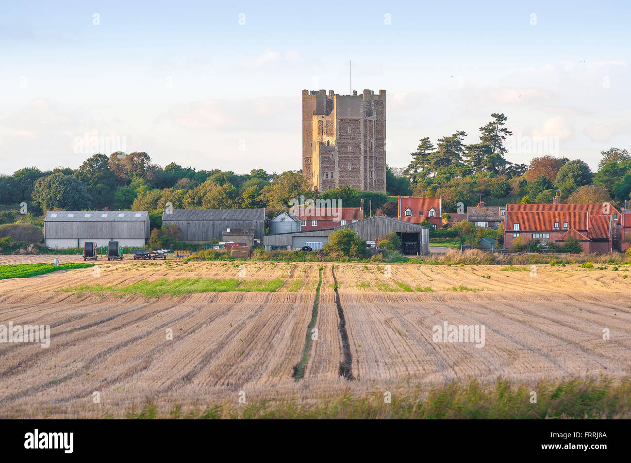 Orford castle Suffolk, the castle was built by Henry II in the Suffolk town of Orford between 1165 and 1173  to - Stock Image