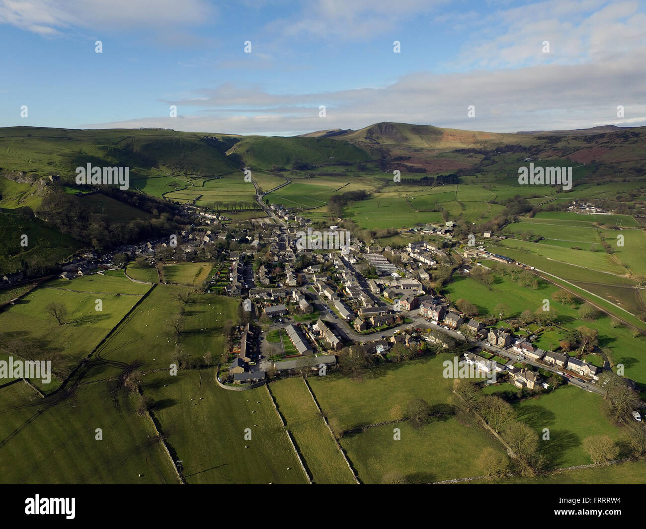 Castleton Derbyshire Peak District Stock Photo