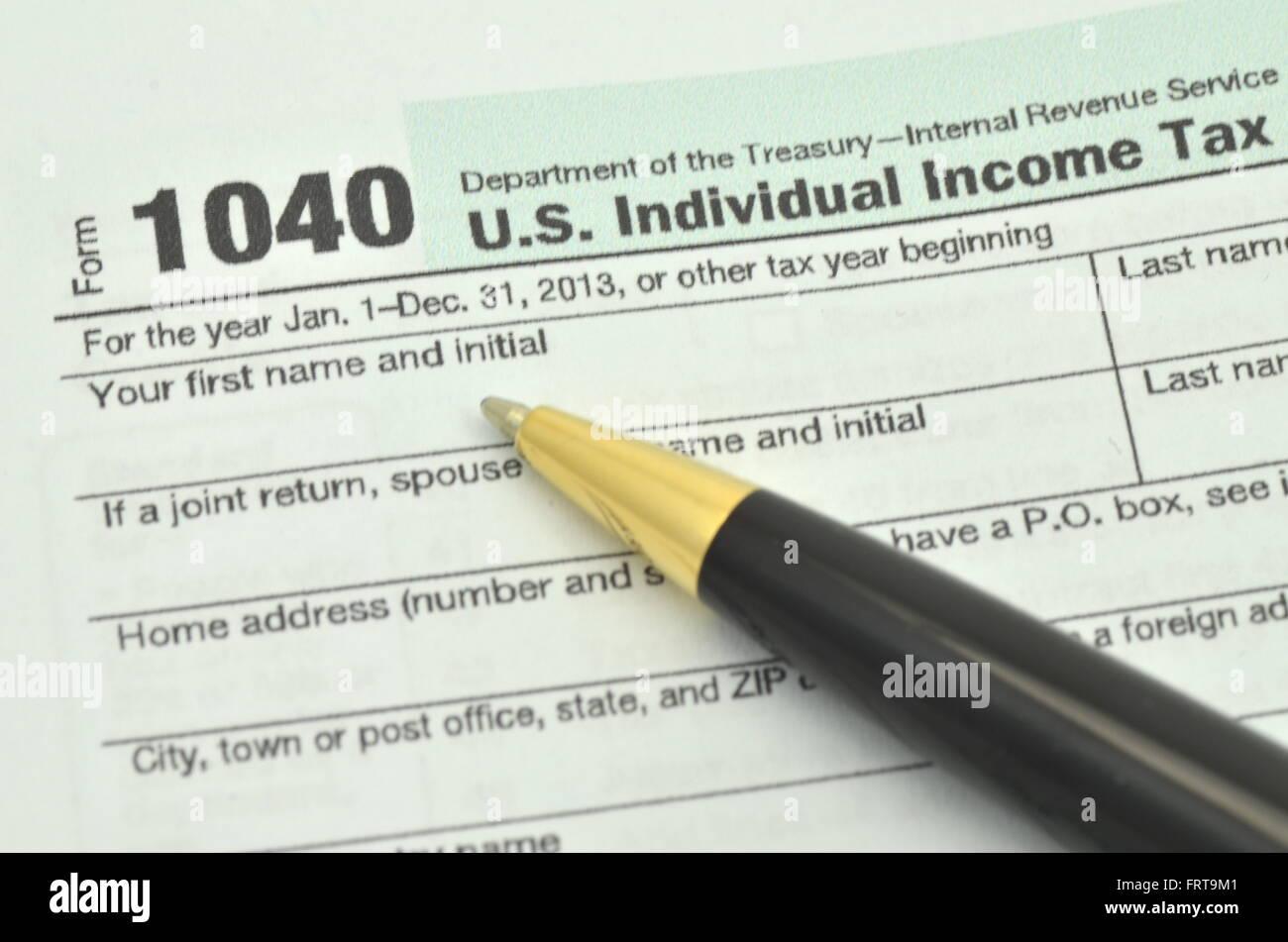 Closeup Of Us Tax Forms Stock Photo 100723393 Alamy