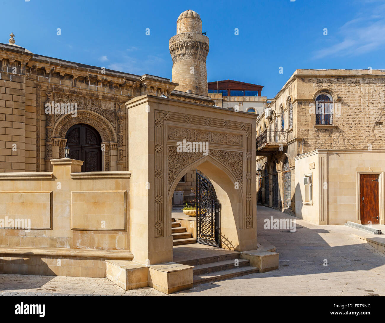 Old mosque in the fort in Baku.Azerbaijan - Stock Image