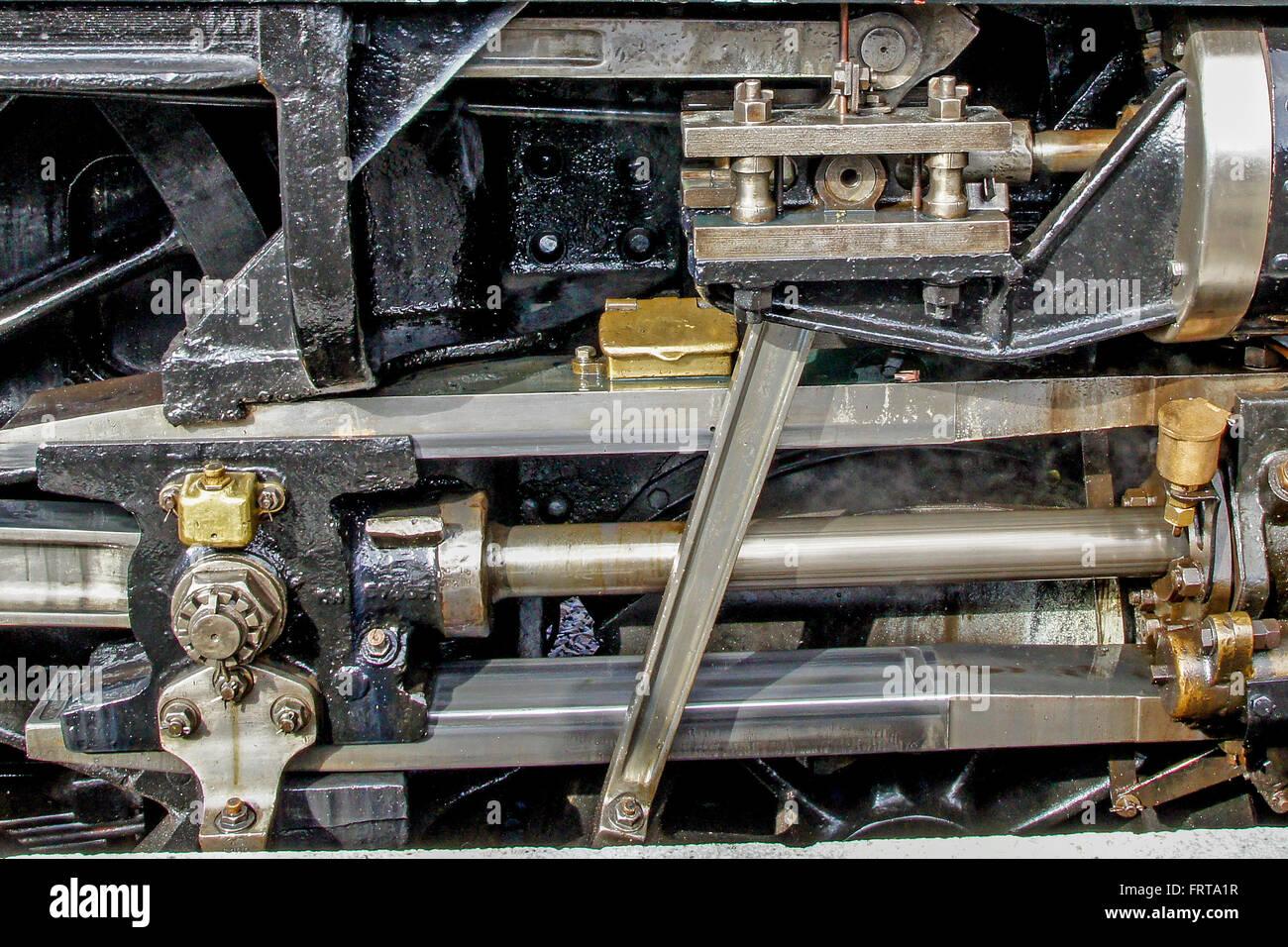 6100 Royal Scot pistons - Stock Image