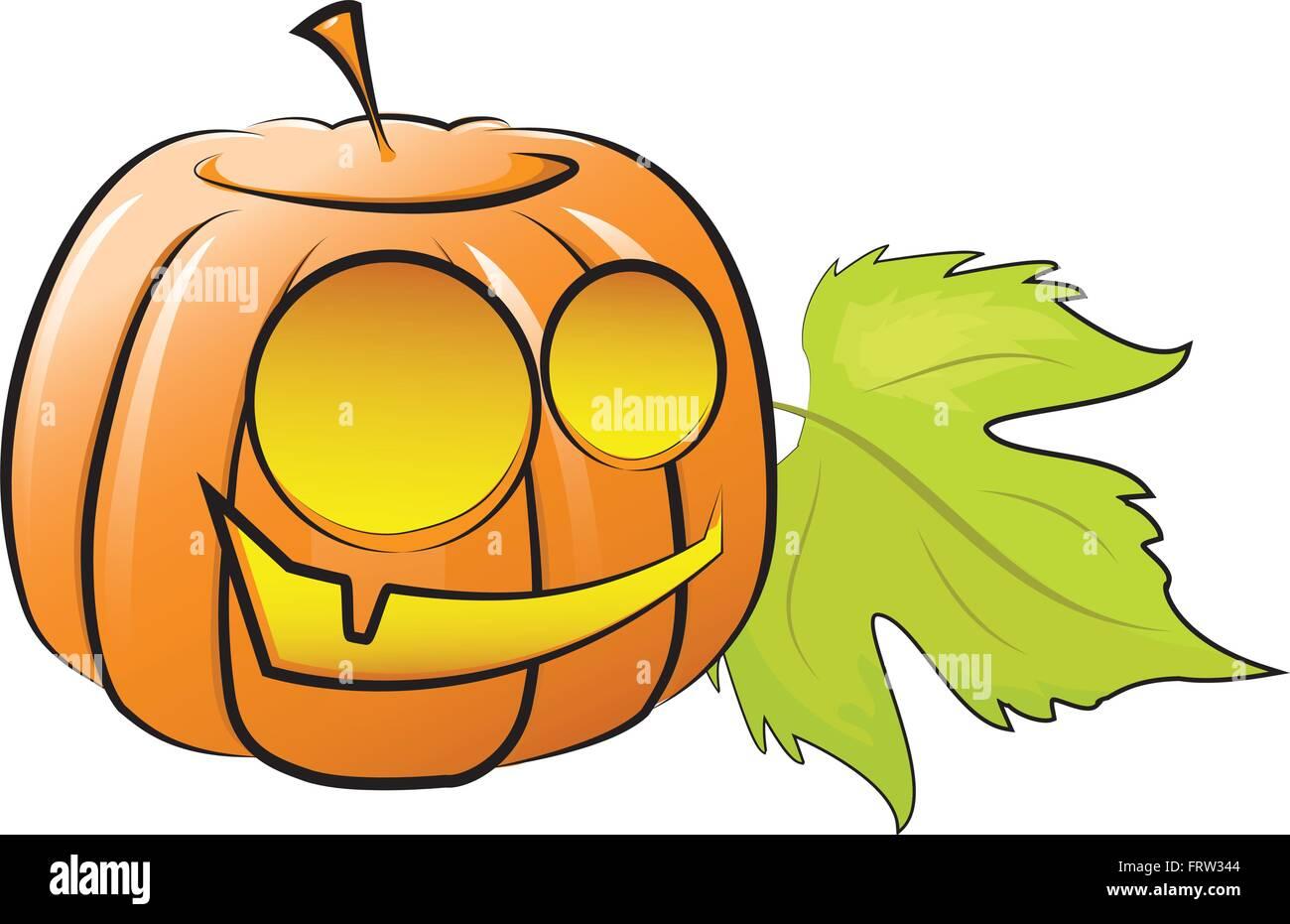 Vector illustration. fun pumpkin decorating for Halloween - Stock Vector