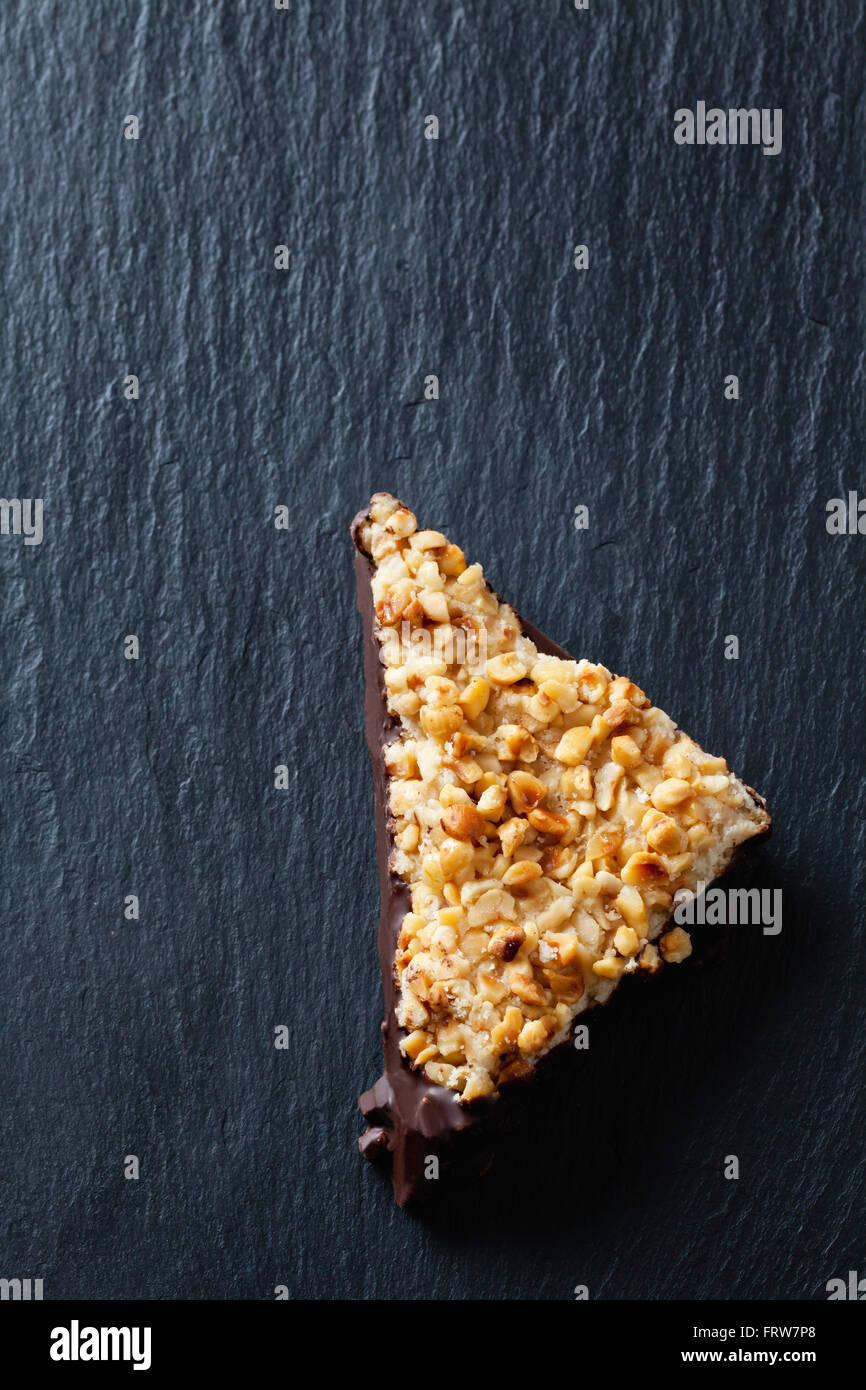 Nut triangle on slate - Stock Image