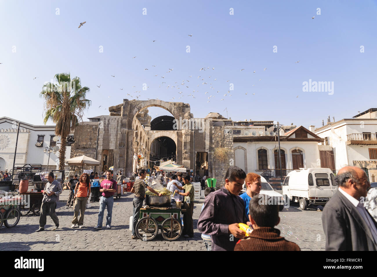 Ordinary day at Al-Hamidiyah Souq in the old city of Damascus. - Stock Image