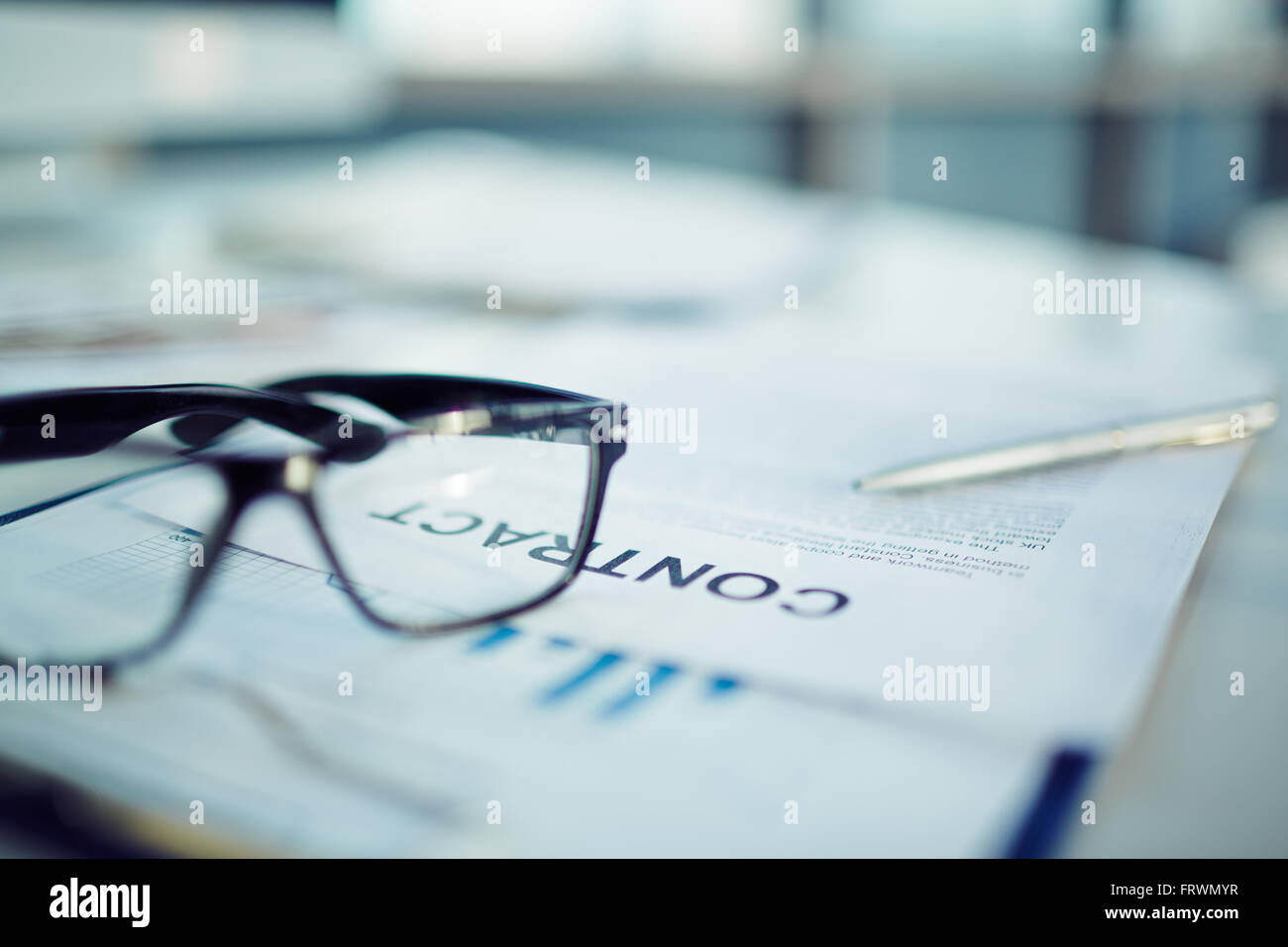 Business contract details - Stock Image