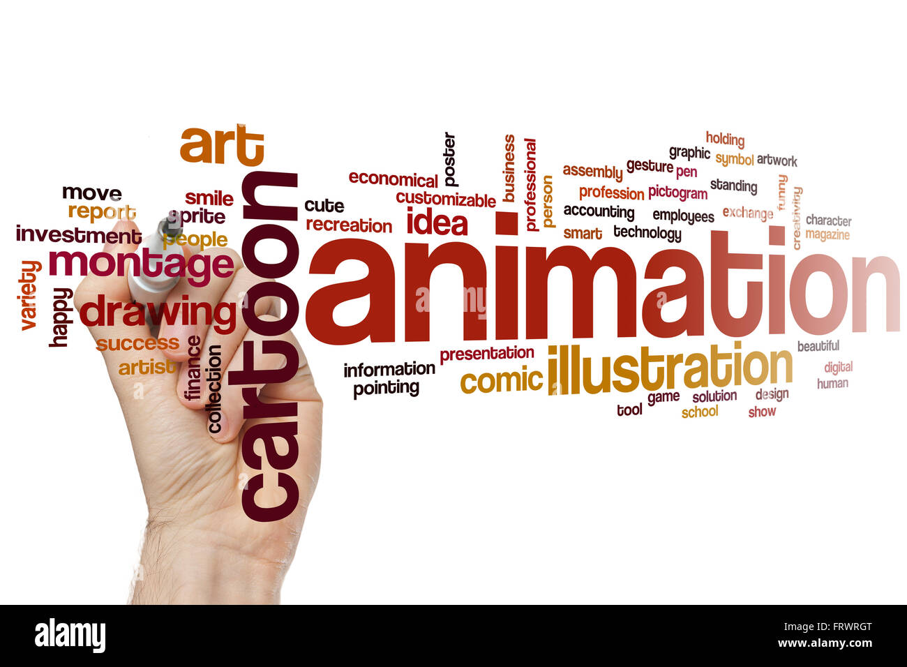 Animation word cloud concept