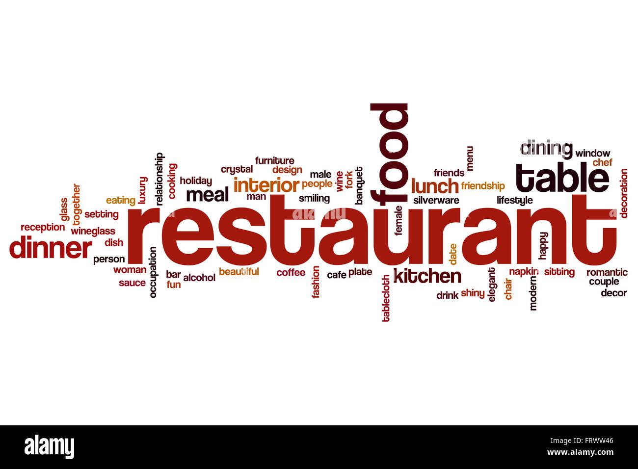 restaurant word cloud stock photo 100757446 alamy