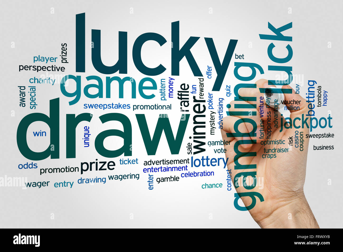 Lucky Draw Concept Word Cloud Background Stock Photo 100758879 Alamy