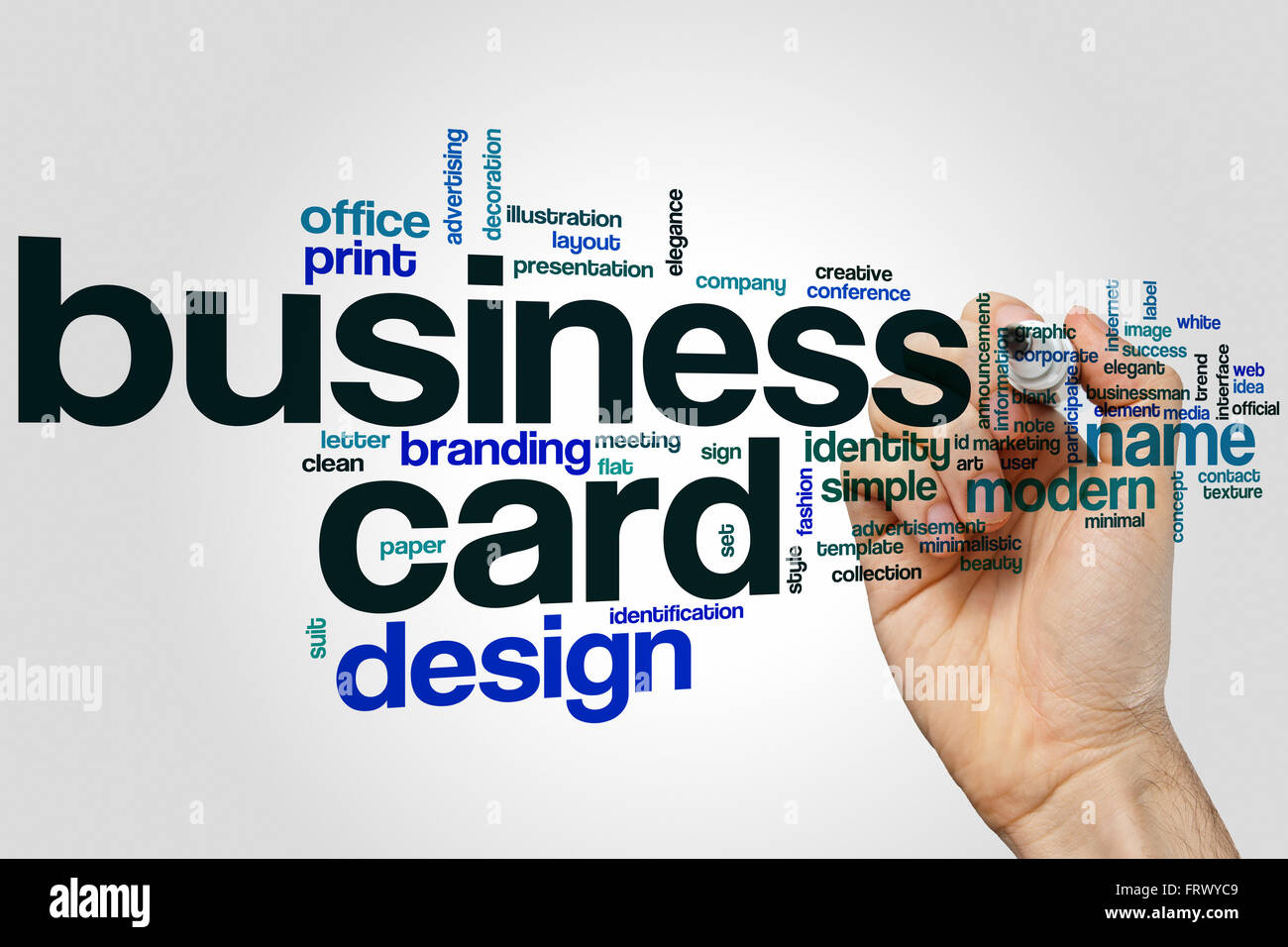Business card word cloud concept stock photo 100759241 alamy business card word cloud concept reheart Choice Image