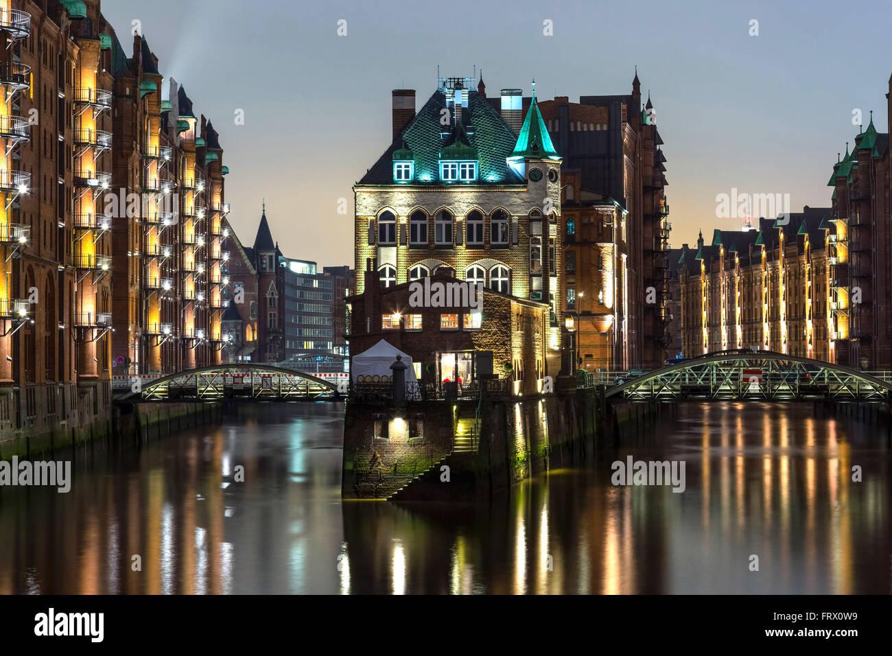 Wasserschloss building in Hansestadt of Hamburg, Germany Stock Photo