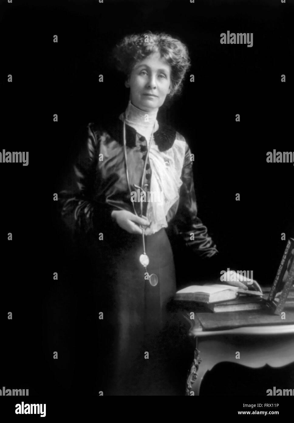Emmeline Pankhurst, leader of the British suffragette movement, c.1913 Stock Photo