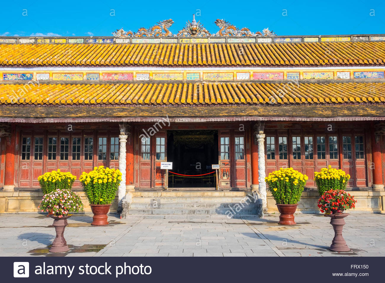 Thai Hoa Palace (Hall of Supreme Harmony), Imperial City of Hue, Thua Thien-Hue Province, Vietnam Stock Photo