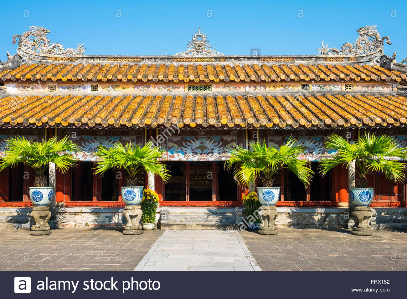 Hung Mieu Temple inside the To Mieu Temple Complex, Imperial City of Hue, Thua Thien-Hue Province, Vietnam - Stock Image