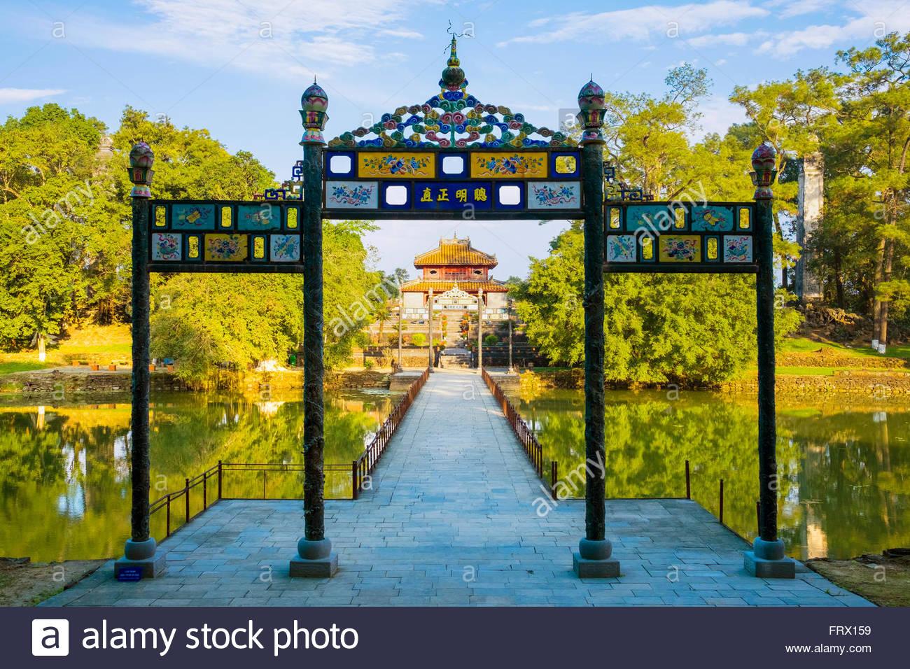 Tomb of Minh Mang (Lang Minh Mang), Huong Tra District, Thua Thien-Hue Province, Vietnam - Stock Image