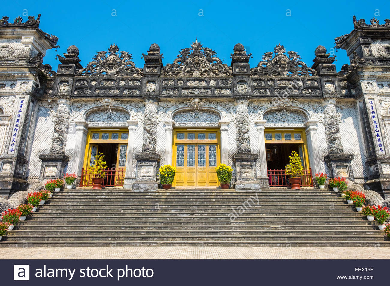 Tomb of Khai Dinh (Lang Khai Dinh), Huong Thuy District, Thua Thien-Hue Province, Vietnam - Stock Image