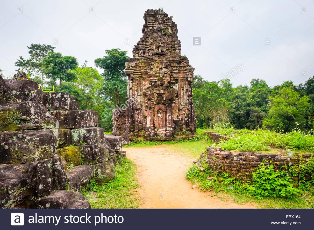 My Son ruins Cham temple site, Duy Xuyen District, Quang Nam Province, Vietnam - Stock Image