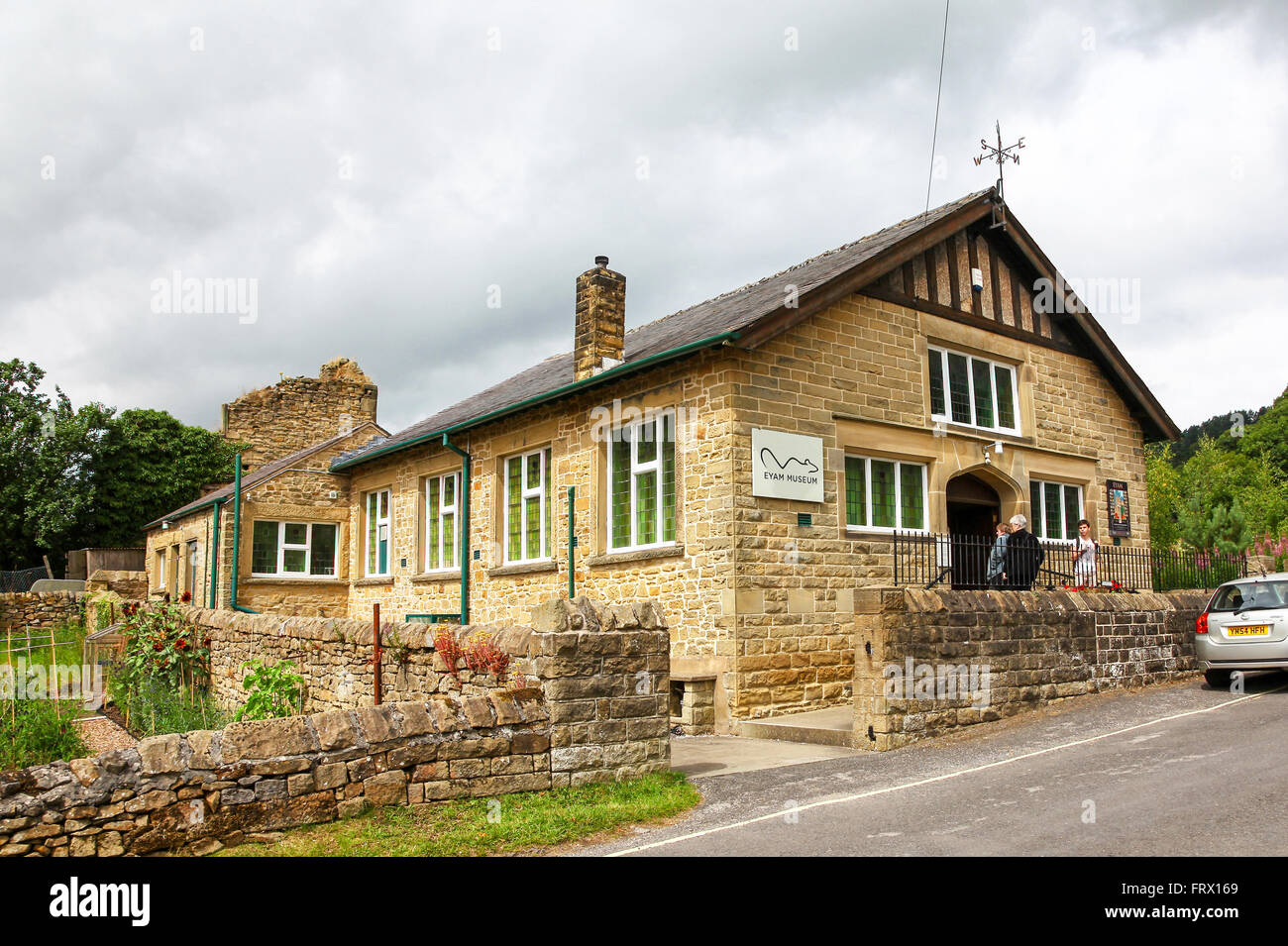 Eyam Museum in the plague village of Eyam Derbyshire England UK - Stock Image
