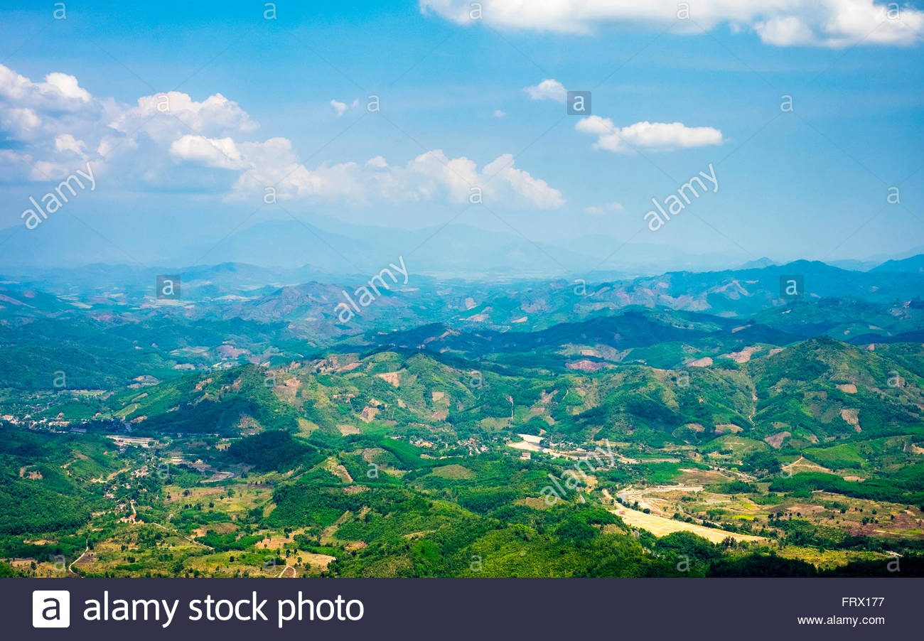 View from Khanh Le Pass, Khanh Vinh District, Khanh Hoa Province, Vietnam - Stock Image