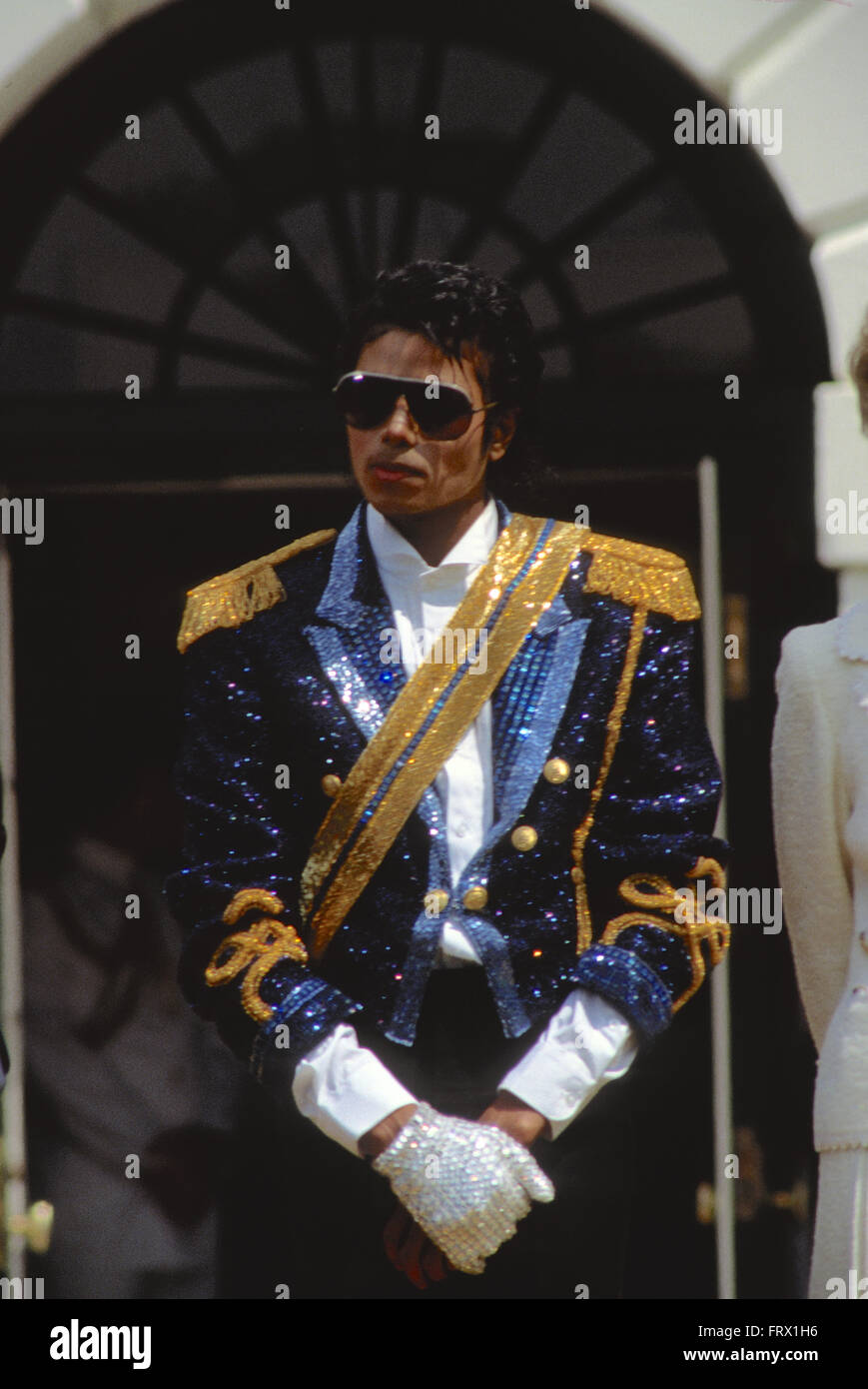 Washington, DC., USA, 15th May, 1984 Michael Jackson is honored at the White House by President Reagan and First - Stock Image