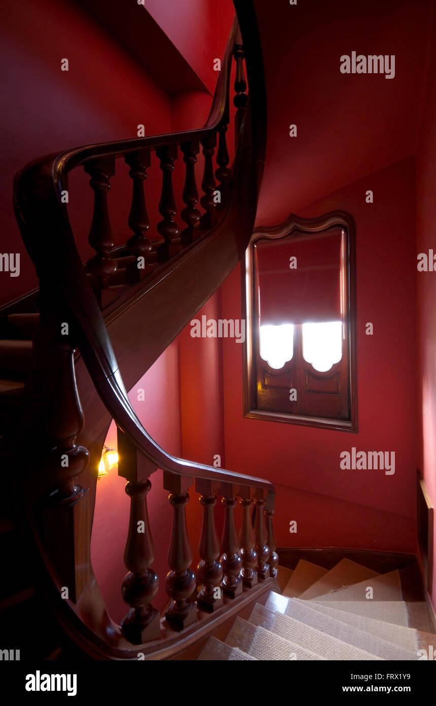 Ornate staircase in the Quinta da Regaleira Sintra, Portugal - Stock Image