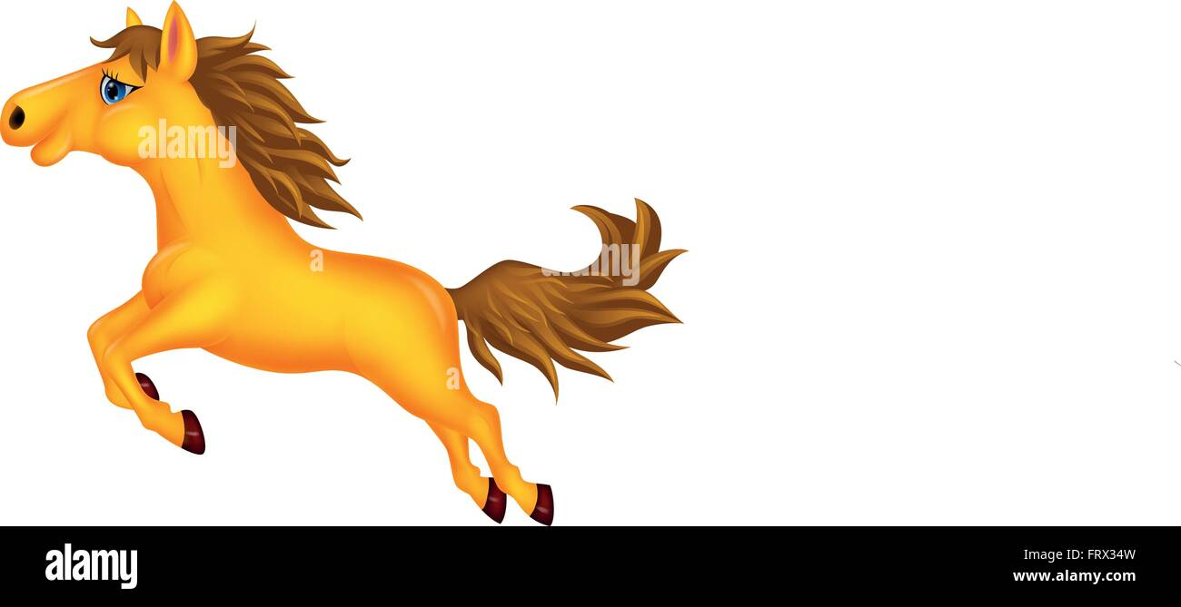 Illustration Of Beautiful Golden Horse Running Stock Vector Image Art Alamy