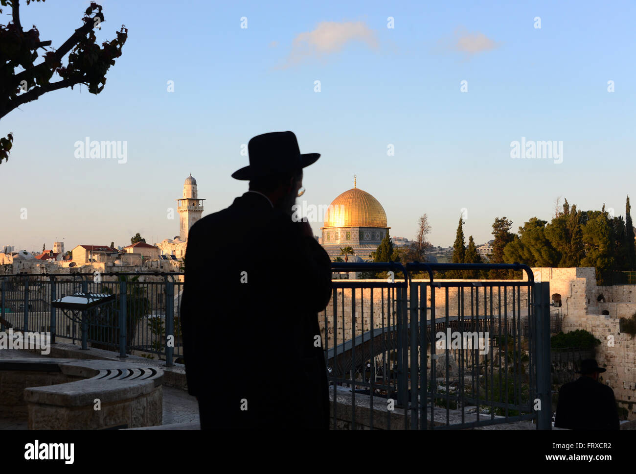 view from south to the Dome of the Rock, Jerusalem, Israel - Stock Image