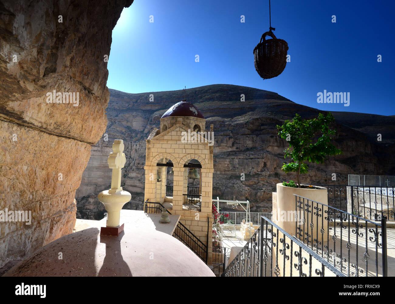 St George's monastary near Jericho, Palestine near Israel - Stock Image