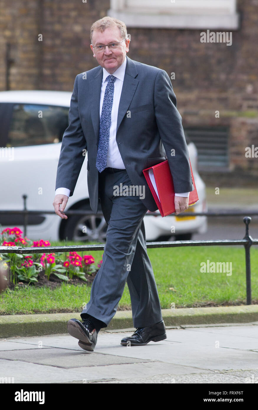 David Mundell,secretary of state for Scotland,arrives at Downing street for a cabinet meeting - Stock Image