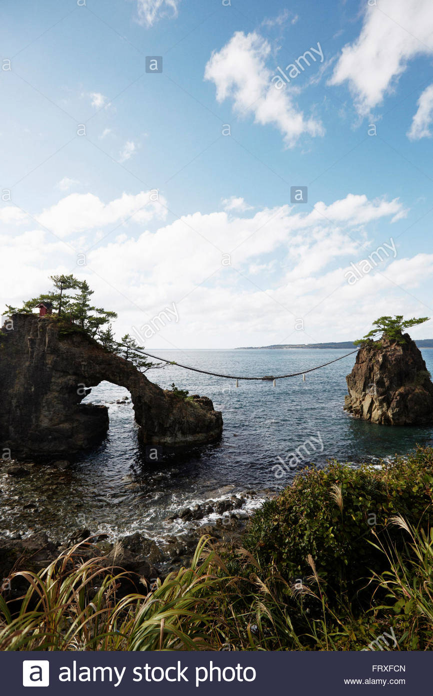 Hatago Iwa rocks, Noto Peninsula, Ishikawa, Japan - Stock Image