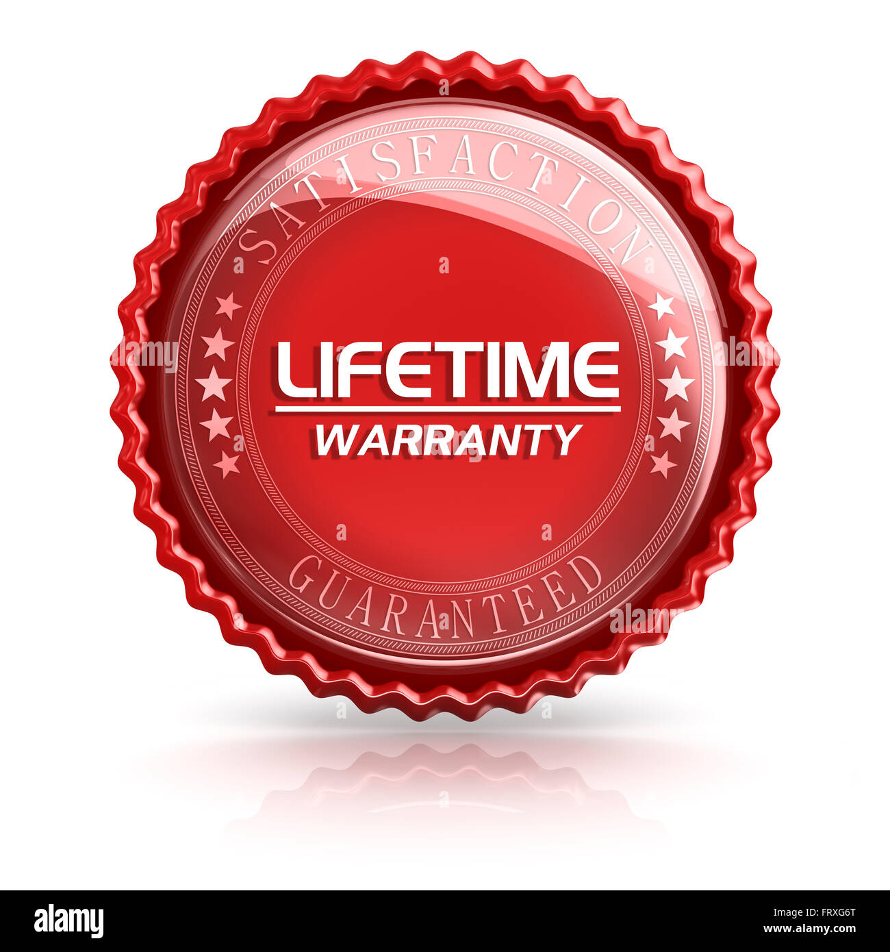 Lifetime Warranty , 3d rendered image. Stock Photo